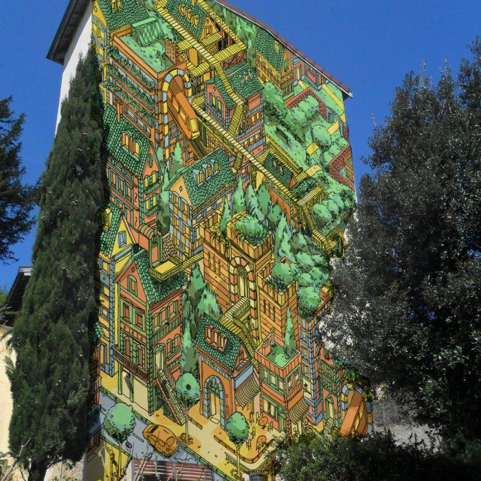 Mur situé à Tassin 69
